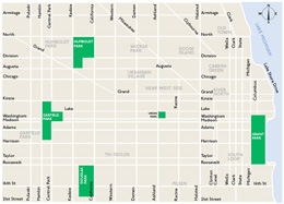 There are way more streets than this. This map just shows some main ones.